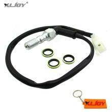 XLJOY-interrupteur de feux de freins hydrauliques avec prise mâle pour moto, boulon Banjo à Double purge, 10x1.25mm