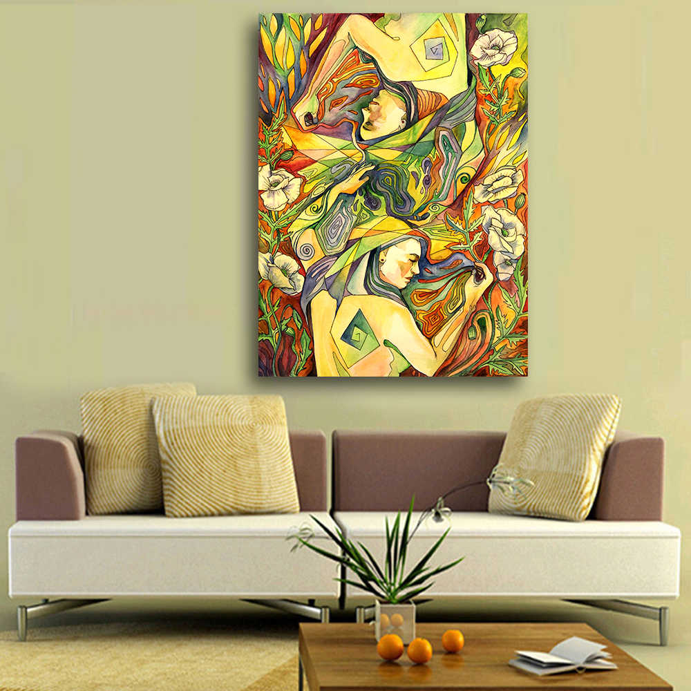 Figure Painting People Sleeping on the Field Oil Painting on Canvas Wall Pictures for Living Room Poster and Painting Wall