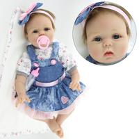 NPK COLLECTION New Arrival Rooted Brown Mohair Handmade Silicone Adora Lifelike Brinquedos Baby Bonecas Reborn Doll