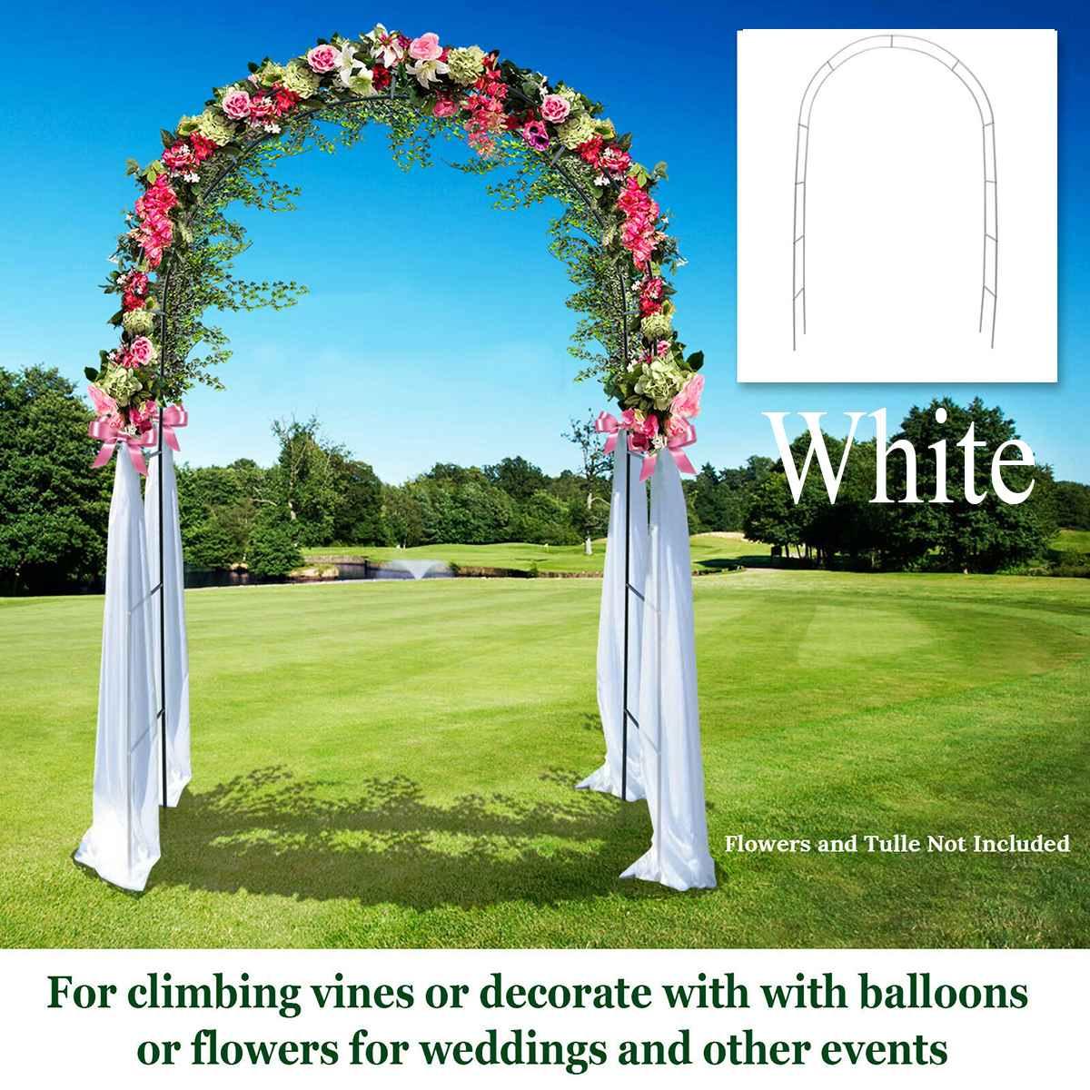 Белые металлические арки вертикально основание Полюс стенд дисплей набор Свадебная вечеринка Свадебный Выпускной Сад Цветочные украшения