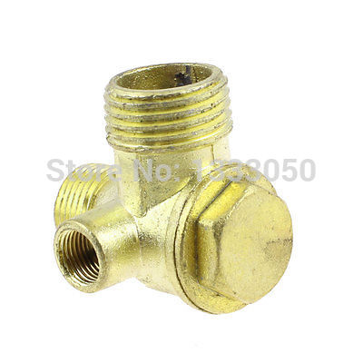 11.11 hot selling 1/8 3/8 1/2 M/F Threaded Air Compressor Fittings Male Thread Check Valve m m 13mm to 9mm male thread air compressor inline manual valve