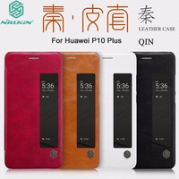 Original Nillkin For Huawei Ascend P10 Plus Case Flip Luxury Classic Stand Leather View Window Smart