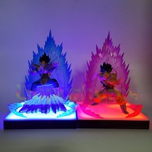 Dragon Ball Z Son Goku Vegeta Super Saiyan DIY Led Lamp Anime DBZ Lighting Decoration