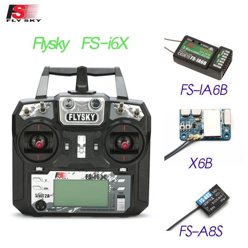FS-i6X Flysky i6X 2.4 GHz 10CH AFHDS 2A transmetteur RC avec récepteur X6B iA6b i-bus A8S pour Mode avion Rc 1 Mode 2