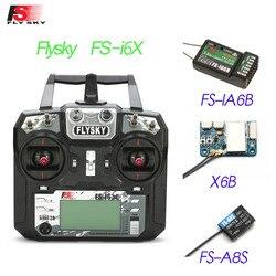 Flysky FS-i6X i6X 2,4 GHz 10CH AFHDS 2A RC con el transmisor de X6B iA6b-Autobús A8S receptor para Rc el Modo avión 1 modo 2