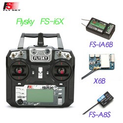 Flysky FS-i6X i6X 2.4GHz 10CH AFHDS 2A RC Transmitter With X6B iA6b i-BUS A8S Receiver For Rc Airplane Mode 1 Mode 2