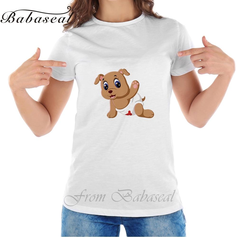 babaseal printed apparel Store Babaseal Top Brand T Shirt Queen Korean Funny T-shirts Tumblr Tee Shirt Women Vegan Funny Tee Cute Baby Dog Cartoon Tops Kawaii