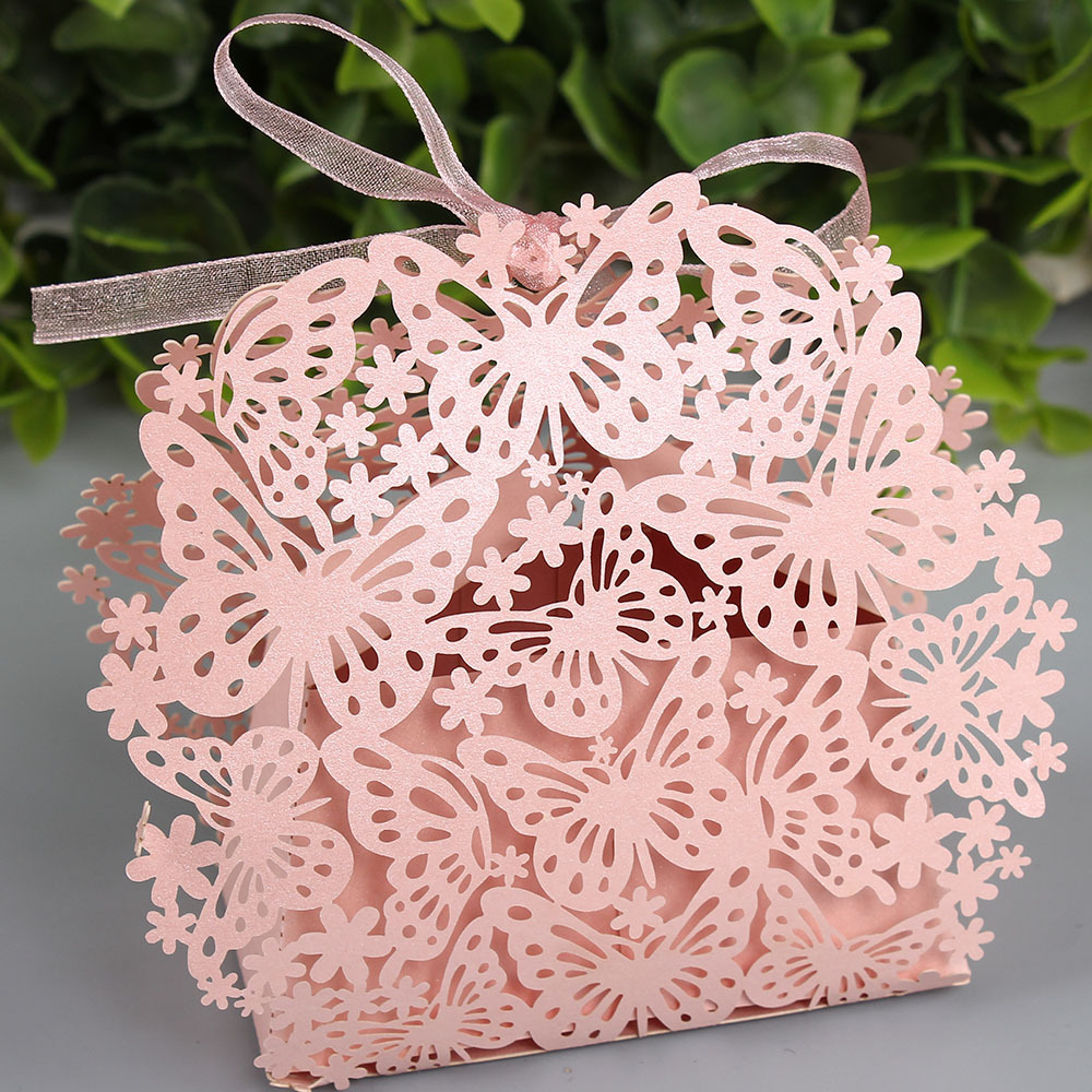 50pcs/lot Butterfly creative candy box DIY wedding favors and Gift ...