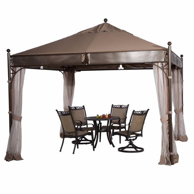 abba patio 115 x 115 ft outdoor art steel frame garden house party canopy patio gazebo - Abba Patio