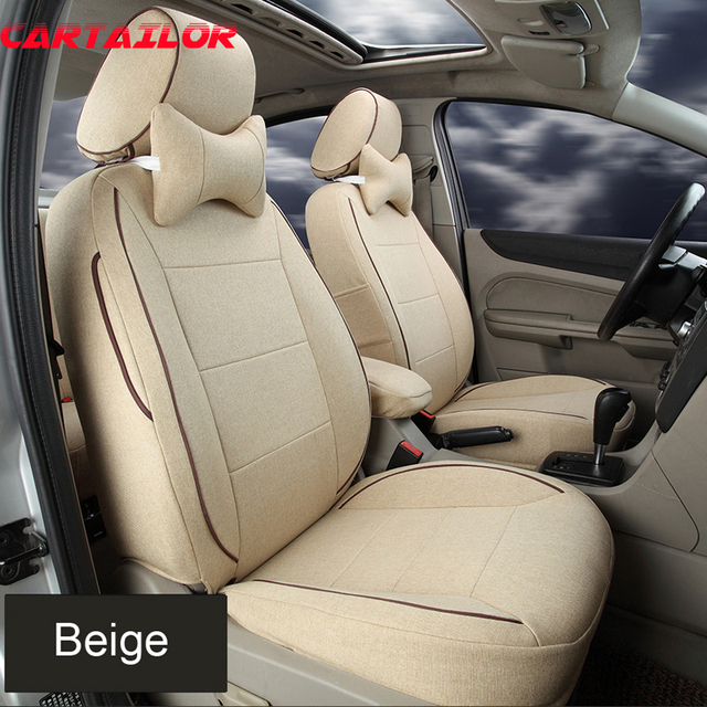 CARTAILOR Car Styling Flax Fabric Seat Covers fit for Jeep Compass ...