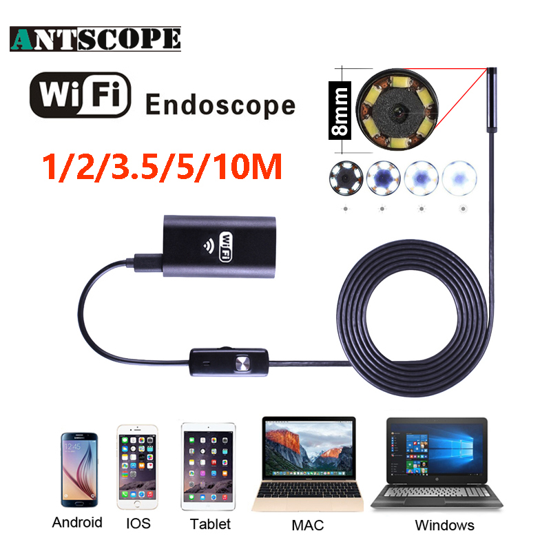 bilder für Antscope Wifi Endoskop HD 1/2/5/10 mt Wifi Endoskop Android 720 P Iphone Kamera Endoskopische Android iOS Boroskop Kamera