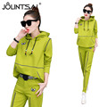 Plus Size M-XXXL Spring Autumn Women 2 piece Clothing Set 2017 New Casual Fashion Hoodies Sporting Suits Ladies Tracksuit