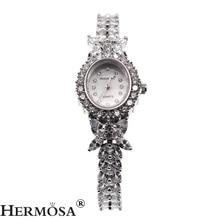цена на Valentine Gifts Women Quartz Wristwatch Whitetopaz Watch Lady Sterling Silver Links Bracelet Jewelry 7.5 Inches H8113