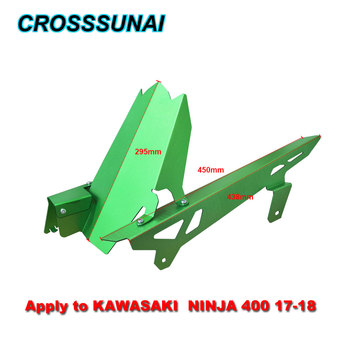 For Kawasaki NINJA 400 17-18 NINJA400 2017 2018 Motorcycle CNC Chain Motorbike Accessories Parts Guard Cover Rear Fender Kit