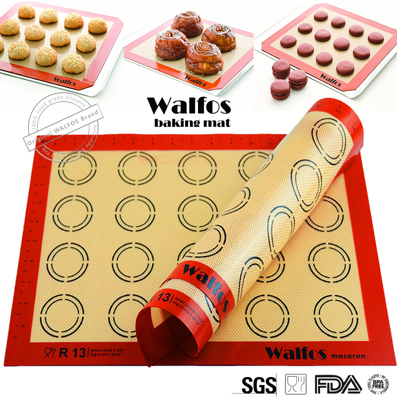 WALFOS Silicone Pad Baking pastry tools Dough Mat Cookie