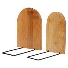 Nature Bamboo Desktop Organizer Office Home Bookends Book Ends Stand Holder Shelf Bookrack стоимость