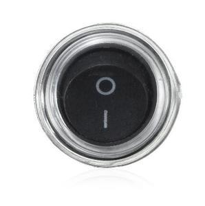 Image 2 - 2 контактный выключатель SPST для лодки, Круглый, черный, 5x1, 12 В, с защелкой + водонепроницаемым пальто YUANZUO
