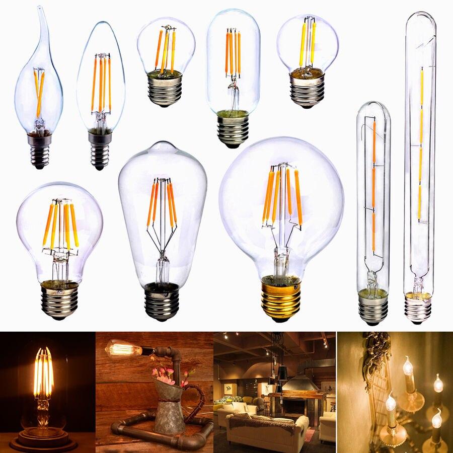 Vintage edison bulb old fashioned lamp classic a60 led 2w or 4w - E27 2w 4w 6w Cob Led Vintage Retro Edison Filament Light Bulb Xmas Lamp Globe St64