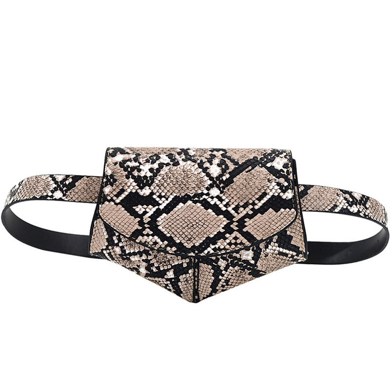 Saddle Style Waist Bags For Women Snake Pattern Belt Bags Ladies Street Fashion Shopping Money Phone Organizer Fanny Packs