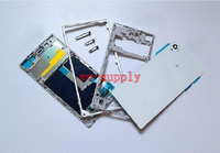 Full Housing Front Chassis + Middle Frame + Back Battery Case + Port Cover + Sticker for Sony Xperia Z1 L39H C6902 C6903 C6906