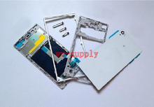 Full Housing Front Chassis + Middle Frame + Back Battery Case + Port Cover + Sticker for Sony Xperia Z1 L39H C6902 C6903 C6906 стоимость