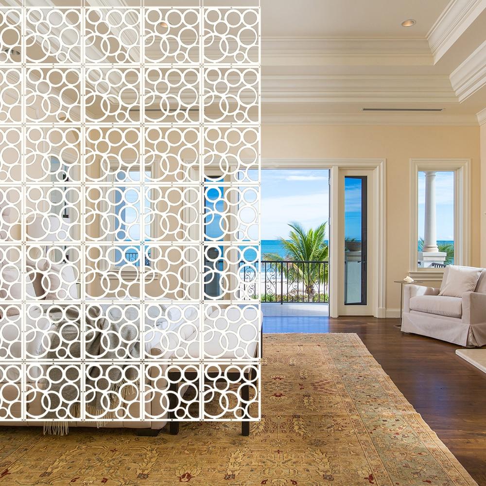 12pcs DIY Room Divider Hanging Wall Panels Decor Art ...