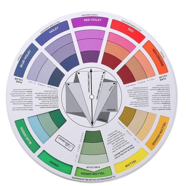 Doppel Seiten Tattoo Pigment Farbe Rad Diagramm Farbe Mischen Guide ...