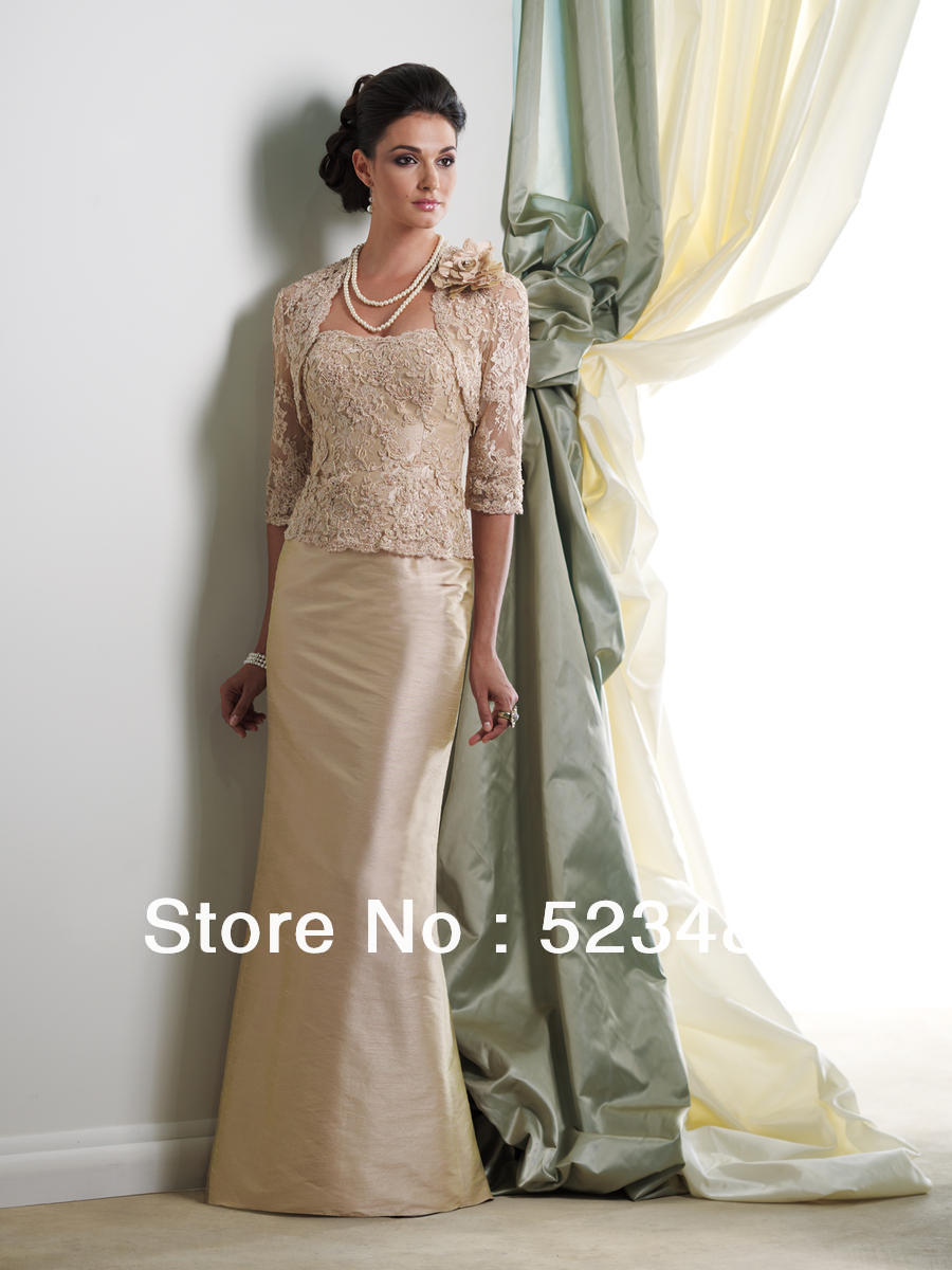 Beautifull Unique Gold Appliqued Lace Mother of the Bride/Groom ...