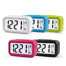 Повтор подсветки время будильник календарь термометр электронный светодиодный цифровой часы