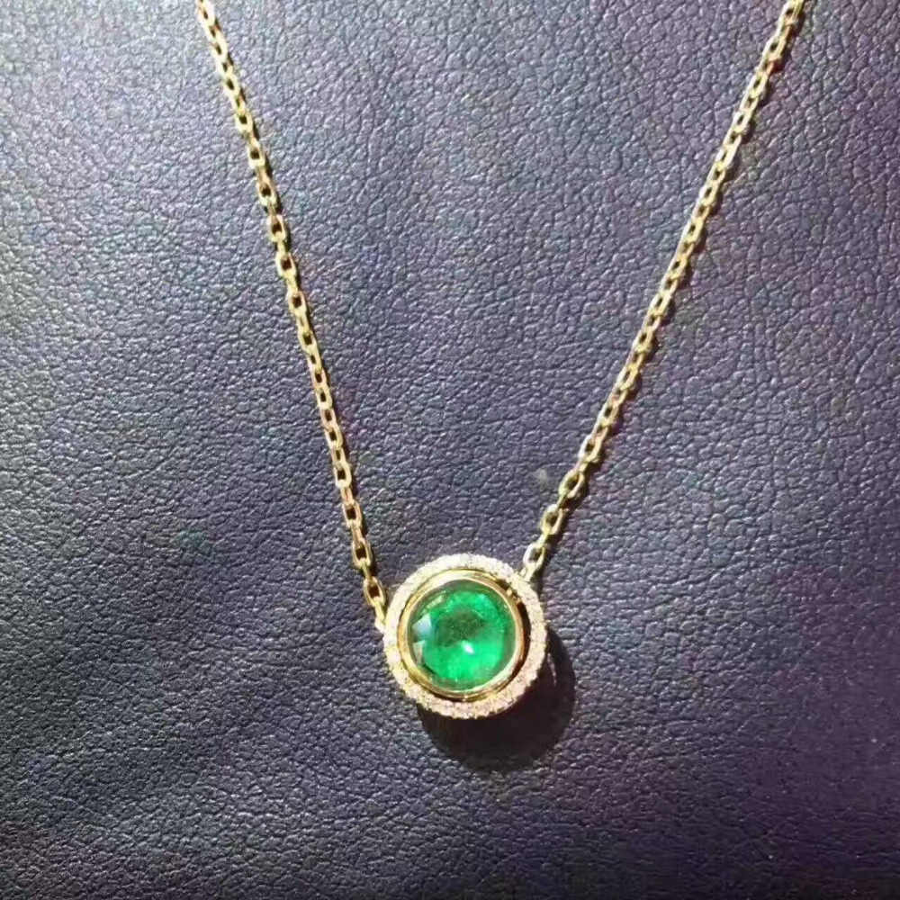 88cf6bd3fe4df Detail Feedback Questions about natural green emerald pendant S925 ...