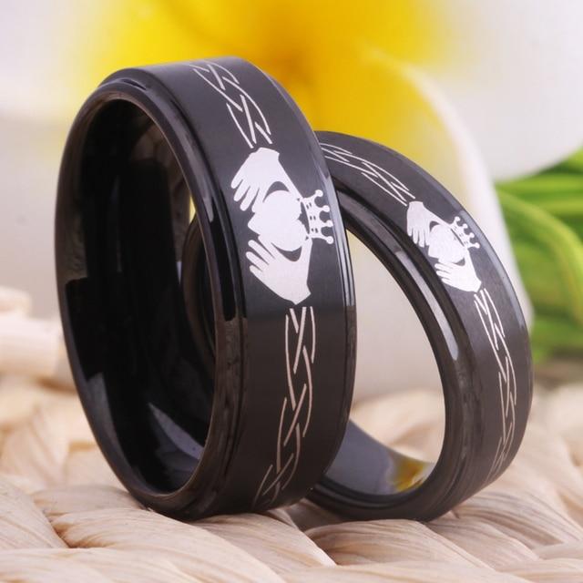 091a28c76226 Mejor Claddagh diseño joyería nupcial de boda anillos compromiso las ...