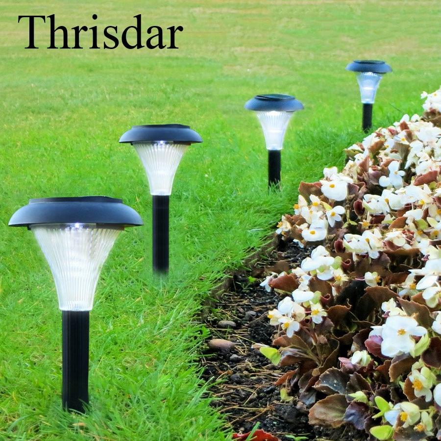 Thrisdar 6PCS Outdoor Solar Garden Stake Lawn Lamps Solar Landscape Spike Spotlight Lantern Pathway Garden Backyard Lighting