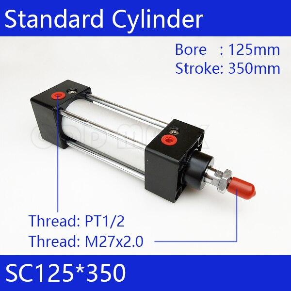 SC125*350 стандартные пневматические цилиндры клапана 125мм диаметр 350мм ходов одиночный род двойного действия пневматический цилиндр