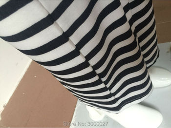 2017 new fashion cosmama sweatpants summer Zebra stripes casual flare culottes pants for women cotton white color trousers 10