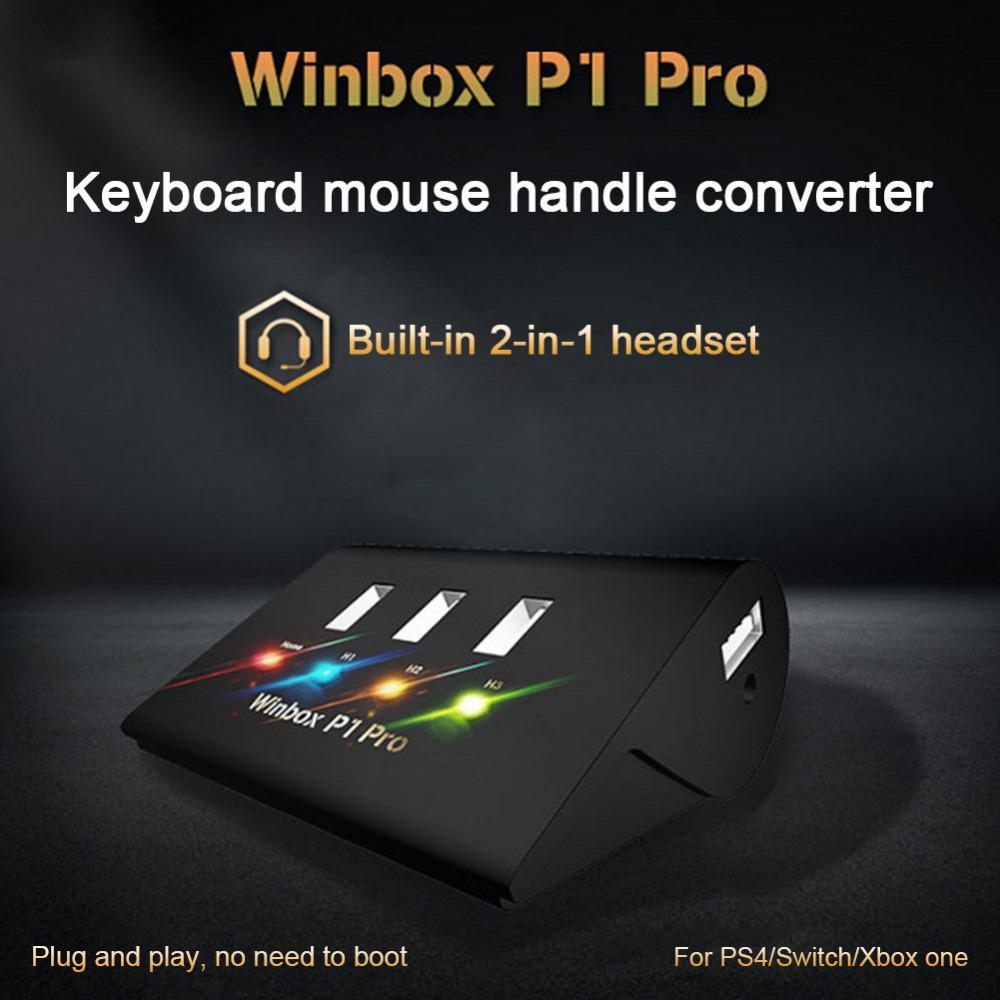 Honesto Winbox Teclado Ratón Gamepad Adaptador 4 Usb Interruptor Independiente Convertidor Para Fps Ps4 P1 Pro Xbox Vejez... Móvil Leyenda Ros Atractivo Y Duradero