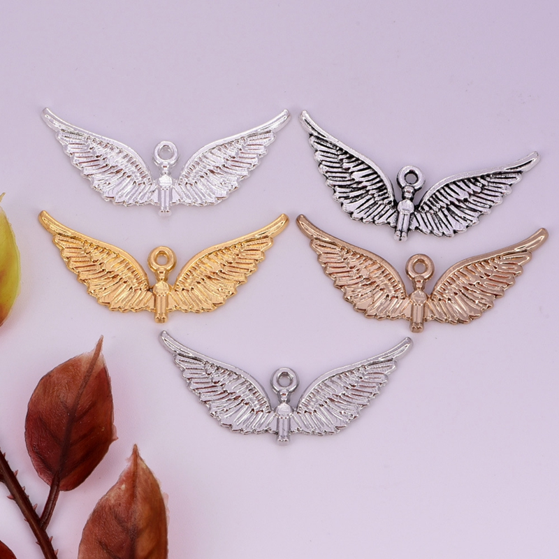 1pc 38mm mini angel wing pendant European American for women DIY jewelry accessories charm necklace bracelet