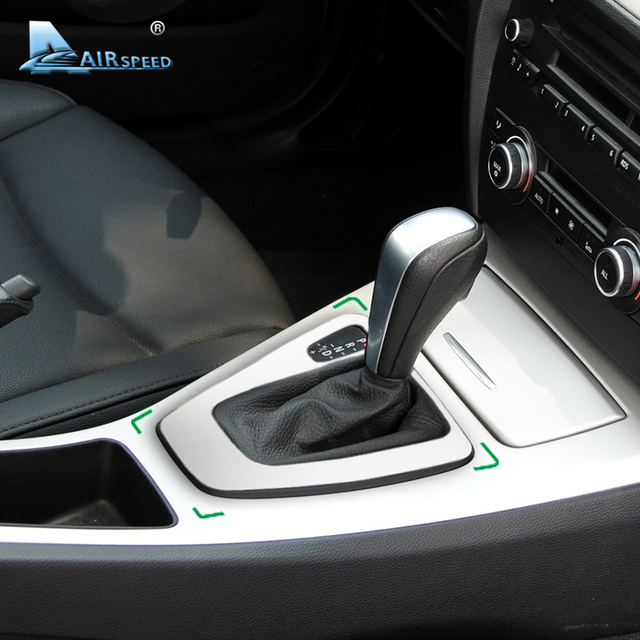 Airspeed Car Control Gear Shift Panel Cover Gearshift Panel Frame Trim Mouldings for BMW E90 E92 3 Series 2005 2012 Car Styling