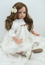 60 cm Wedding simulation doll girl baby toy rebirth doll model child toy