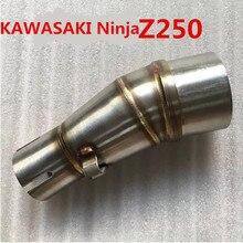 Хорошее качество для Kawasaki Z250SL, Z250 NINJA fit 51 ММ изменение мотоцикл выхлопных Ближнего Трубы глушитель чехол