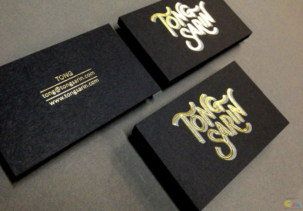 Cheap Card 600gsm Cardboard Custom Gold Foil Business Card Printing ...