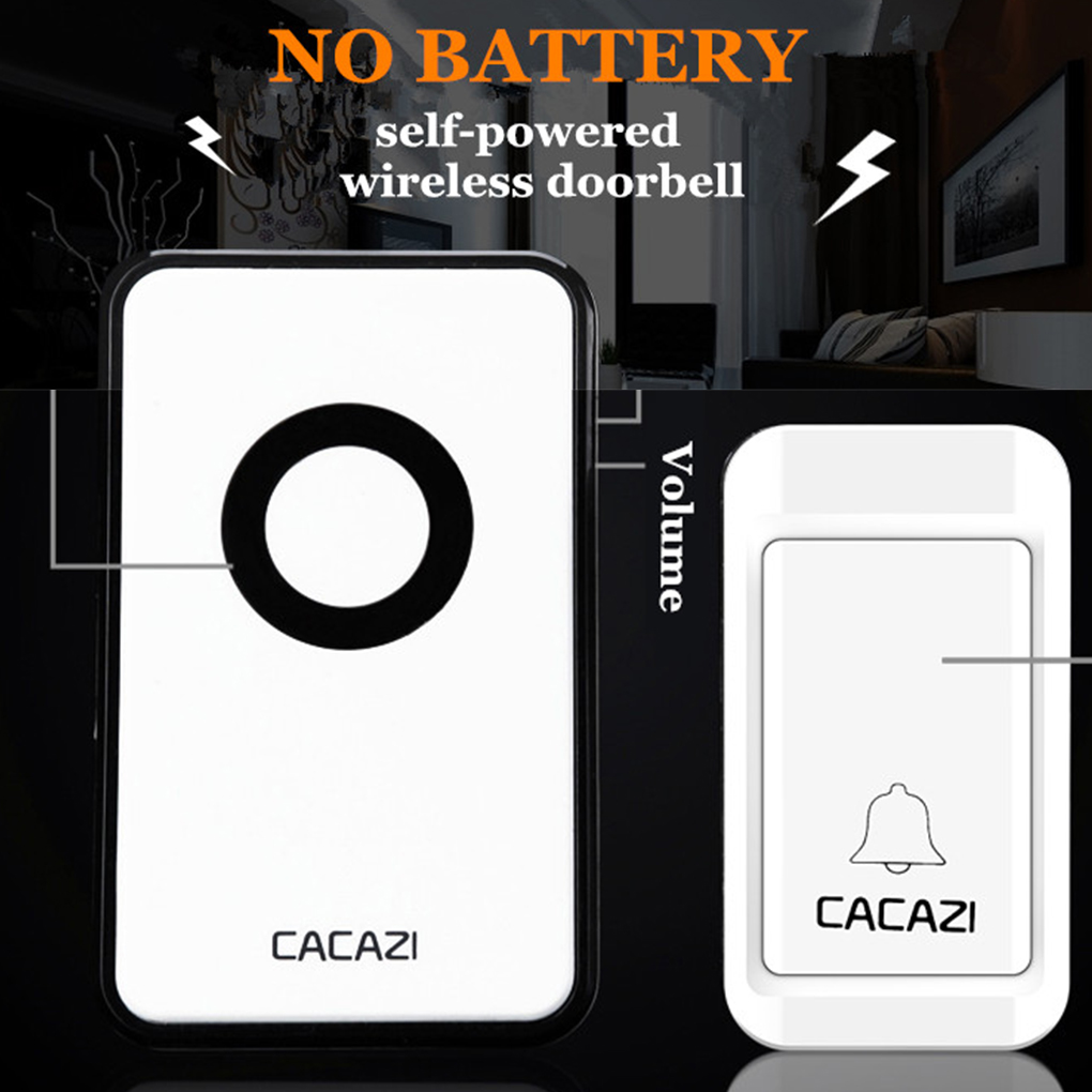 38 Tunes Wireless Cordless Doorbell Remote Control 1 to 2 Door Bell No Need Battery Waterproof For EU US UK AU wireless cordless digital doorbell remote door bell chime waterproof eu us uk au plug 110 220v