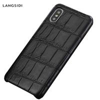 Genuine Crocodil Leather case for Iphone 11 Pro Max x xs xr Handmade phone case for iphone 7 7plus 8 8plus 5 5s 6 6s plus se