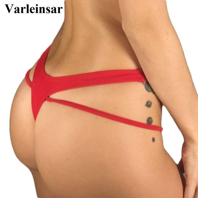 ae9268a011c Bather 2019 V shape sexy brazilian bikini bottom women swimwear female  thong swimsuit tanga micro brief Panty Underwear V806