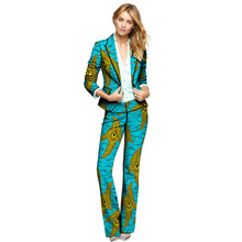 hot deal buy dashiki clothes women print suits blazers with trousers ankara fashion pant suits customized african wedding outfits