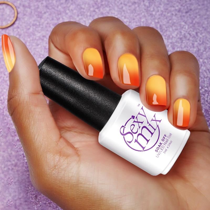 Sexy Mix UV ir LED nagų gelis lenkų temperatūros spalvos keitimas nagų gelio laku pigu kaina manikiūro spalva UV gelio nagų lakas