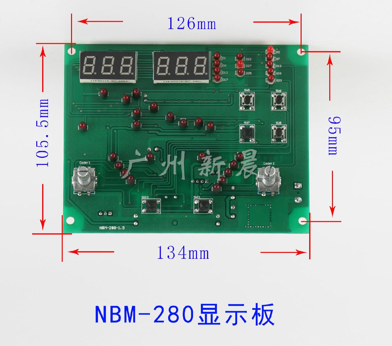 NBC Inverter Gas Shielded Welding Machine Panel Main Control Board Circuit Board Current Regulating Circuit Board