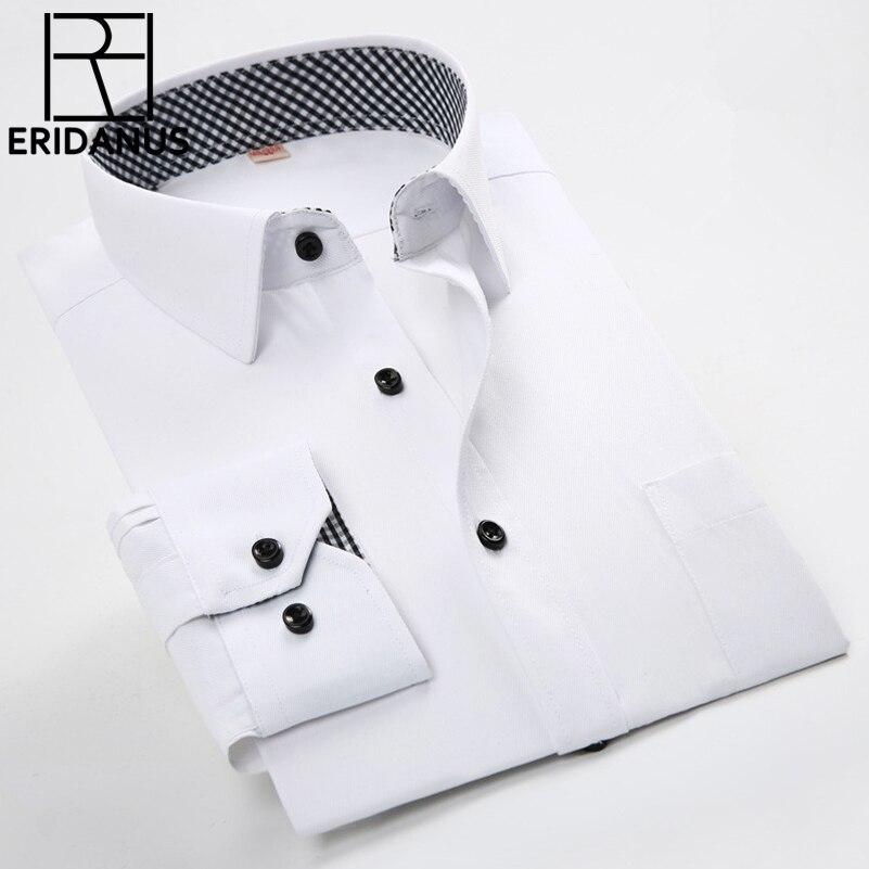 2016 männer Casual Shirts Frühling Neue Ankunft Geschäfts Dünne - Herrenbekleidung