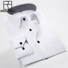 2016 Men Casual Shirts Spring New Arrival Business Slim Fitness Patchwork Plaid Collar Long Sleeve Man Social Dress Shirt M032