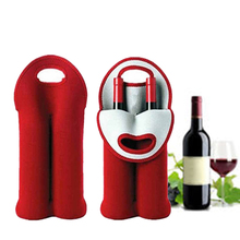 Wine Bottle Bag Insulated Neoprene Drink/Wine/Champagne/Beer Two Cooler Tote Carrier Tool