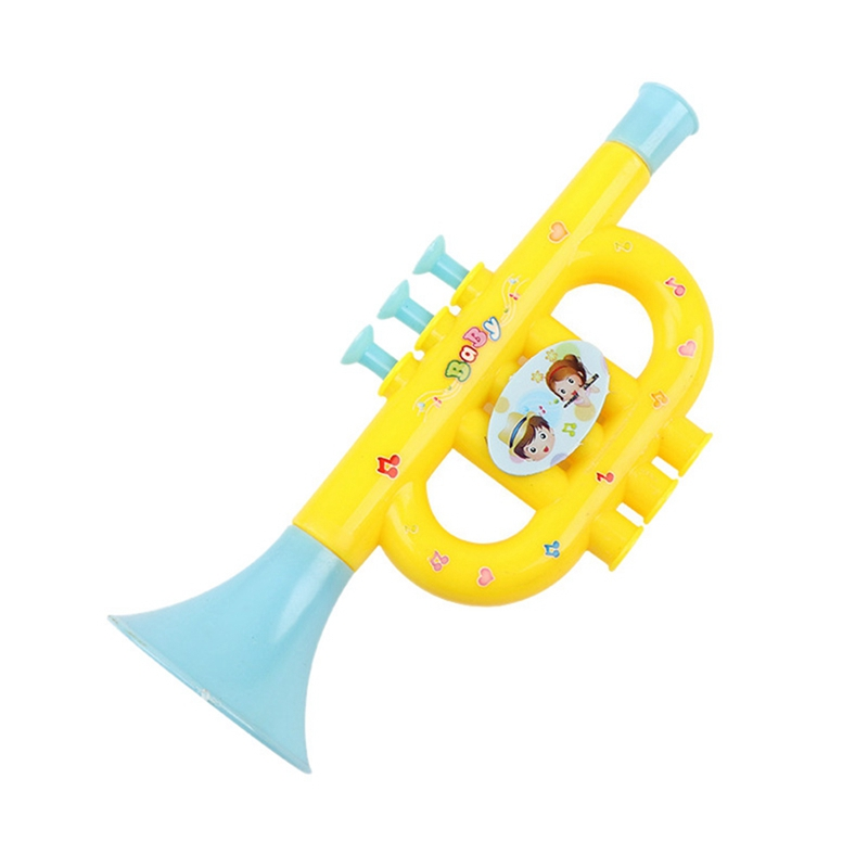 1 Piece Colorful Baby Kids Horn Hooter Trumpet Instruments Music Toys Random Color 1